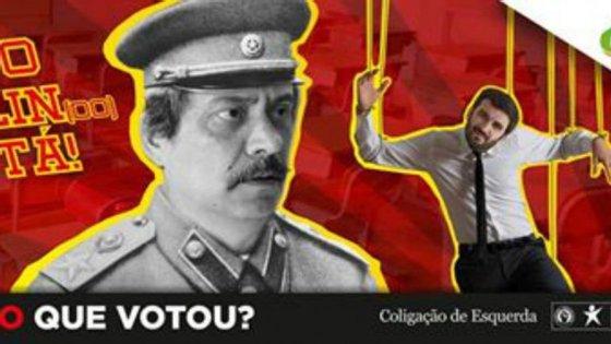 """""""Isto Stalin(do) está"""", foi o lema que a JSD escolheu para compor a imagem"""