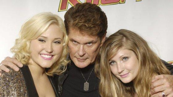 David Hasselhoff com as suas duas filhas