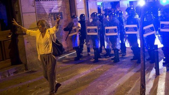 O desalojamento foi seguido por três noites de protestos