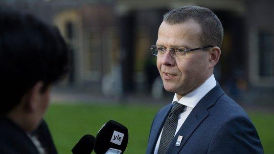 Petteri Orpo, ministro do Interior, que vai suceder a Alexander Stubb no partido e no governo