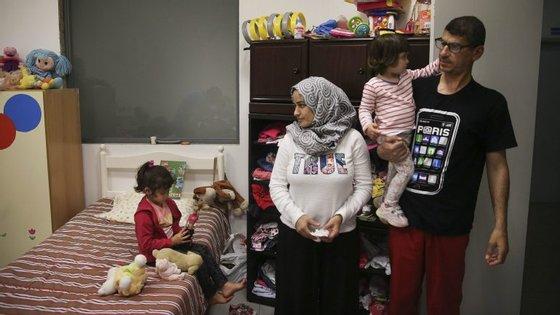 A família Darwih foi a primeira família de refugiados provenientes da Síria a ser acolhida no Centro Comunitário da Confraria da Nossa Senhora da Nazaré