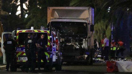 O camião conduzido pelo atacante que fez 84 mortos