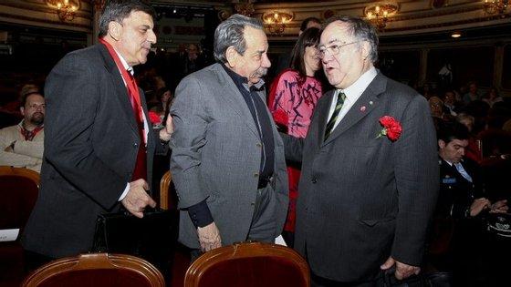 Garcia Pereira (à esquerda) junto de Arnaldo Matos (ao centro)