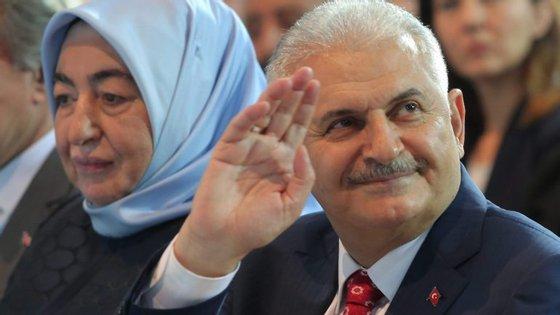 O primeiro-ministro turco, Binali Yildirim