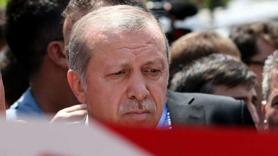 O Presidente turco, Recep Erdogan