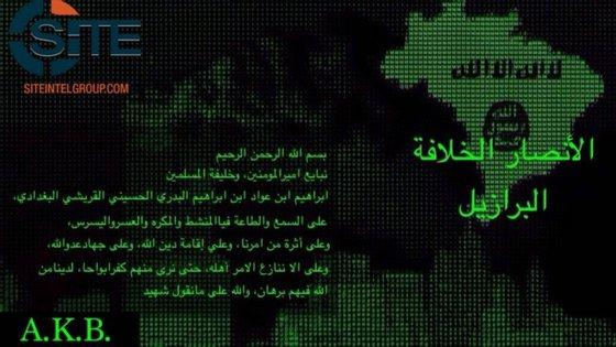 O comunicado foi divulgado em árabe através da aplicação Telegram, muito usada para propaganda extremista