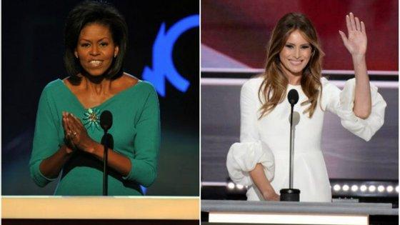 """Michelle Obama falou em 2008 na Convenção Democrata, e Melania Trump """"inspirou-se"""" no discurso da mulher de Barack Obama"""