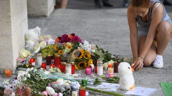 Memorial às vítimas do atentado em Nice