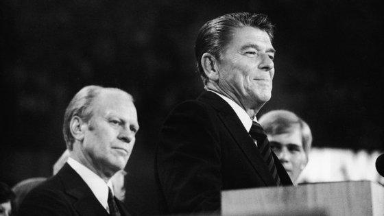Ronald Reagan na convenção republicana de 1976