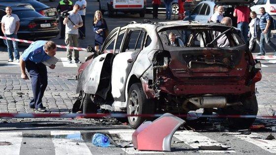 O carro onde morreu Pavel Sheremet