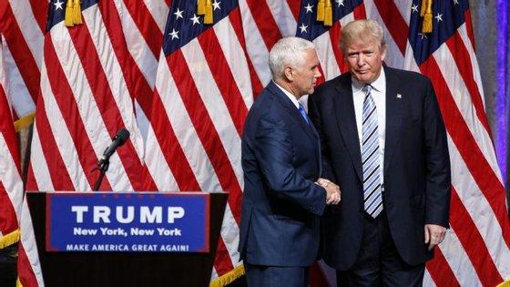 No dia 15 de julho, Donald Trump anunciou o governador do Indiana, Mike Pence, como seu vice-Presidente nas eleições de 8 de novembro de 2016