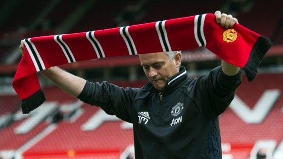 José Mourinho, treinador português, durante a apresentação em Old Trafford