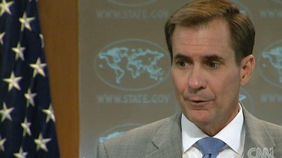 John Kirby, porta-voz do Departamento de Estado dos EUA falava dos esforços da aliança na luta contra o Estado Islâmico