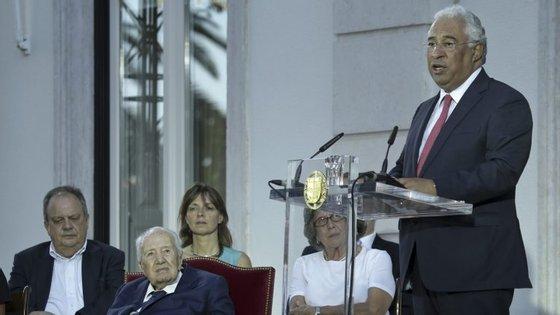 António Costa falou sobre sanções, depois da homenagem a Mário Soares
