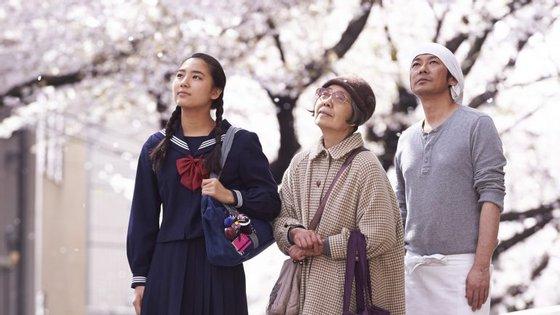 """Os três protagonistas de """"Uma Pastelaria em Tóquio"""", da japonesa Naomi Kawase"""