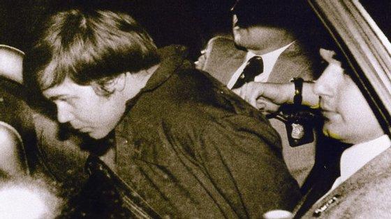 John W. Hinckley Jr. com 25 anos, no dia em que foi detido pela tentativa de assassinato, a 30 março de 1981
