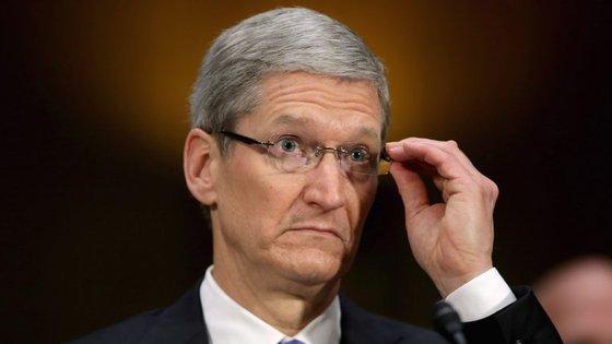 O presidente executivo da Apple, Tim Cook