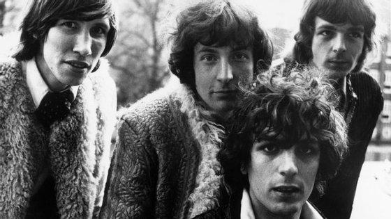 A formação original dos Pink Floyd: Roger Waters, Nick Mason, Syd Barrett e Richard Wright