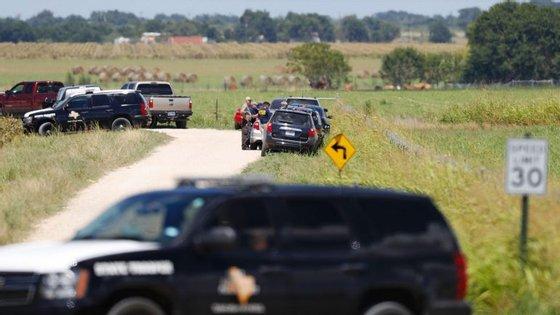 O acidente aconteceu numa zona de pasto perto de Lockhart, no Texas