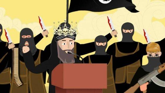 """Imagem do vídeo 'The Bullet or the Ballot"""", partilhado no Facebook, Twitter e YouTube como parte de uma """"contra-narrativa"""" destinada a travar o extremismo nas redes sociais"""