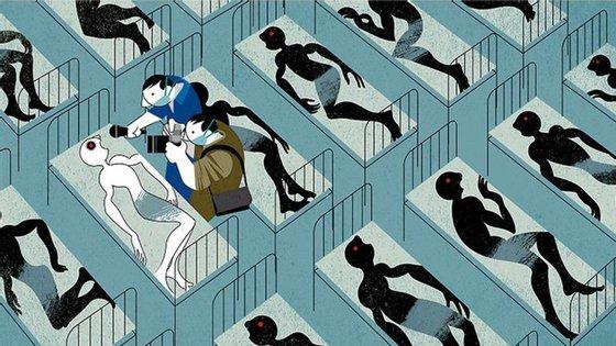 A ilustração de André Carrilho que venceu o grande prémio do World Press Cartoon no ano passado