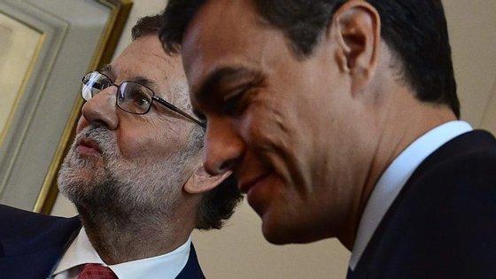 Mariano Rajoy reuniu-se esta manhã com Pedro Sanchéz