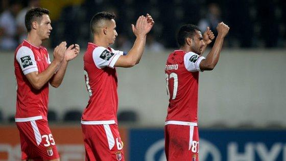 Vucksevic, Mauro e Goiano do Sporting de Braga a 14 de agosto de 2016