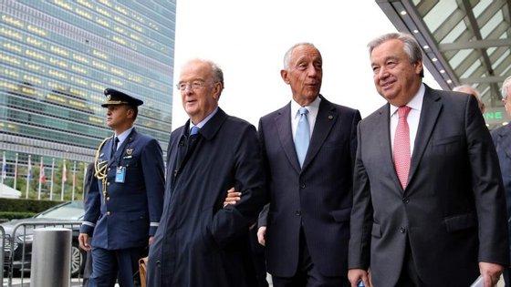 """""""Estamos muito serenos, muito calmos, aguardando com uma boa expectativa a votação de dia 26"""", acrescentou Marcelo, sobre a votação para Guterres"""