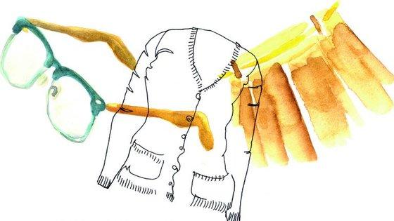 O livro conta com várias ilustrações de Ana Gil.