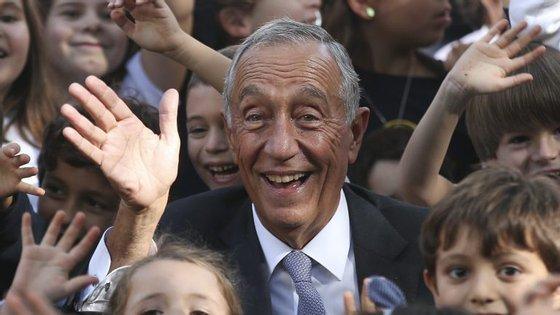 O Presidente da República, Marcelo Rebelo de Sousa, deixou uma mensagem no site da Presidência