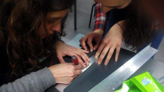 Milena e Francisca eram alunas da Escola Secundária Dona Maria II, em Braga, quando desenvolveram o projeto.
