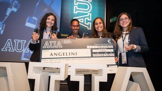 A vencedoras do projeto na altura em que receberam o prémio