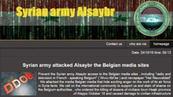 """Acredita-se que o """"Syrian Cyber Army"""" seja apoiado pela Rússia"""