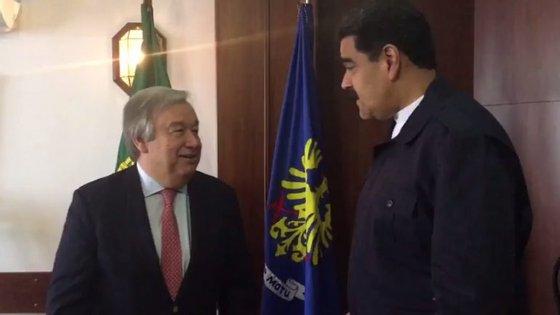 A imagem foi partilhada no Twitter pelo ministro da Comunicação e Informação venezuelano, Ernesto Villegas