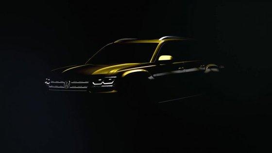 Maior do que o Tiguan e mais pequeno do que o Touareg, o Atlas será o SUV de sete lugares que a VW vai lançar, para já, nos EUA