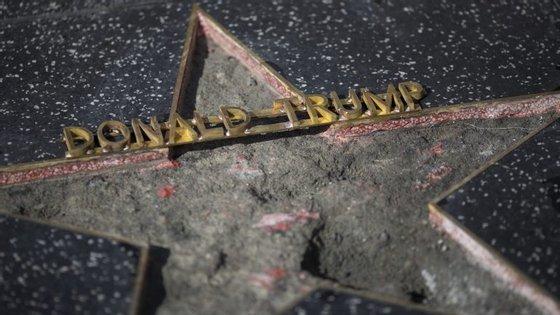 A estrela de Donald Trump no Passeio da Fama já foi alvo de outros ataques desde foi anunciado na corrida à Casa Branca