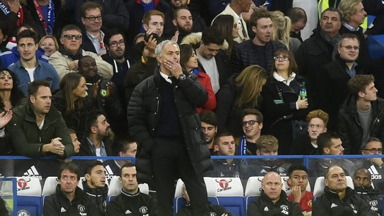 """Mourinha é acusado de """"má conduta"""" por parte da Federação Inglesa."""