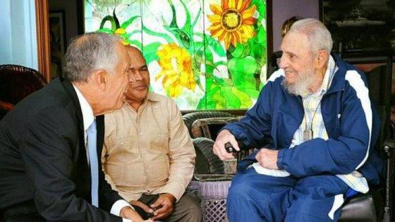 Fidel ofereceu dois charutos cubanos a Marcelo