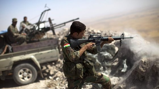 Os pehsmerga são uma das milícias iraquianas envolvidas na luta pela cidade de Mossul