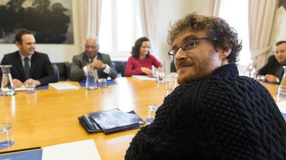 Paddy Cosgrave com o presidente da Câmara Municipal de Lisboa, Fernando Medina, e o Primeiro-Ministro António Costa