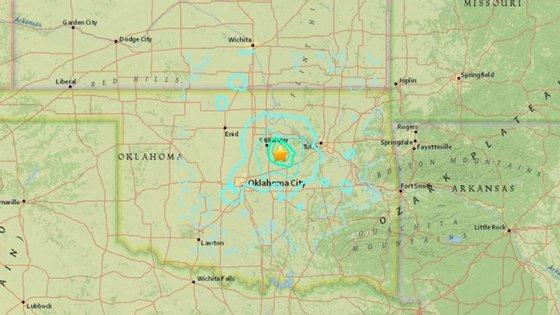 O sismo ocorreu por volta das 19h44, com epicentro a um quilómetro de Cushing, a cerca de 50 quilómetros a nordeste de Oklahoma