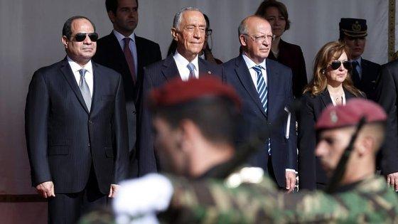 Marcelo Rebelo de Sousa reuniu-se, esta segunda-feira, com o Presidente egípcio no Palácio de Belém e aceita convite para ir ao Egipto