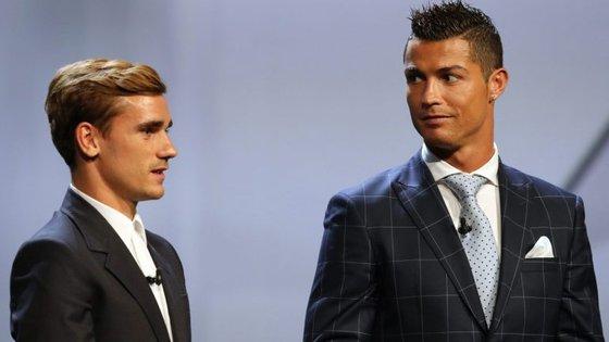 """Griezmann não foi de falinhas mansas quando reencontrou Ronaldo após a derrota da França na final do Euro: """"Odeio-te!"""""""