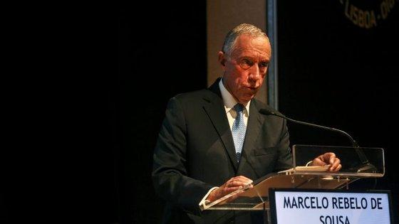 """Marcelo Rebelo de Sousa acrescentou que deseja que os Estados Unidos """"continuem atentos ao mundo, empenhados na paz, no desenvolvimento, no comércio"""""""