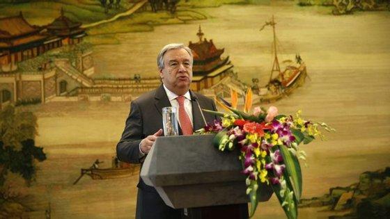 O antigo primeiro-ministro de Portugal enalteceu o contributo da China para a organização que dirigirá a partir do próximo ano.