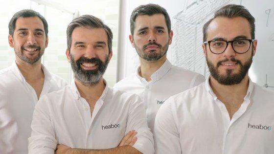 Rui Paulo, Eduardo Noronha, Rui Teixeira e Rafael Rodrigues, fundadores da Heaboo, startup que criou o Hoterway