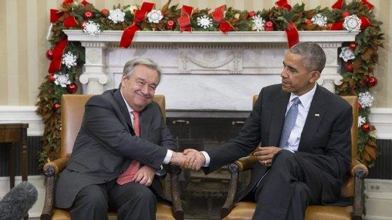 Barack Obama recebeu António Guterres na Casa Branca