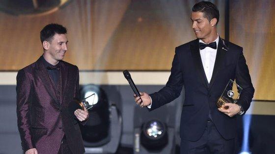 A empatia elegante entre Messi e Ronaldo, os donos da Bola de Ouro desde 2008