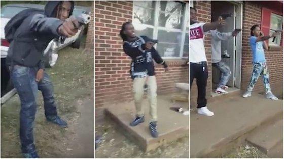 O Mannequin Challenge, filmado em Huntsville, no Alabama, foi publicado no Facebook a 9 de novembro e contou com mais de 85 mil partilhas