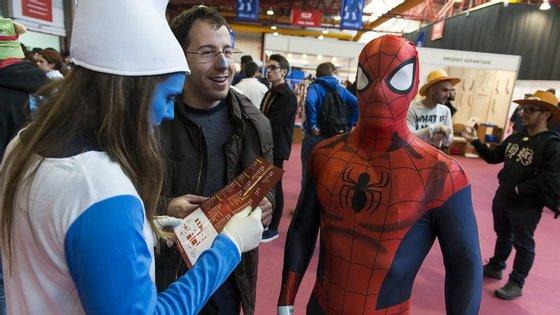 Na primeira edição da Comic Con, nem o Homem-Aranha faltou